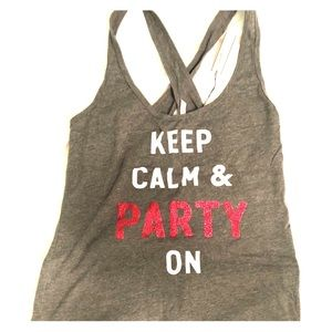 VS Pink keep calm and party on tank